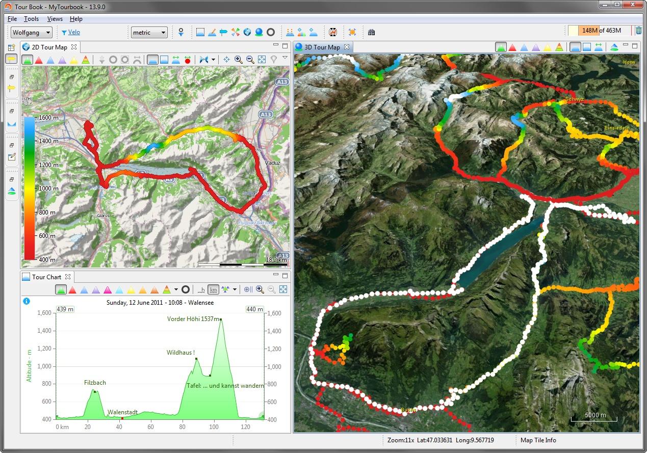 3D Map   MyTourbook